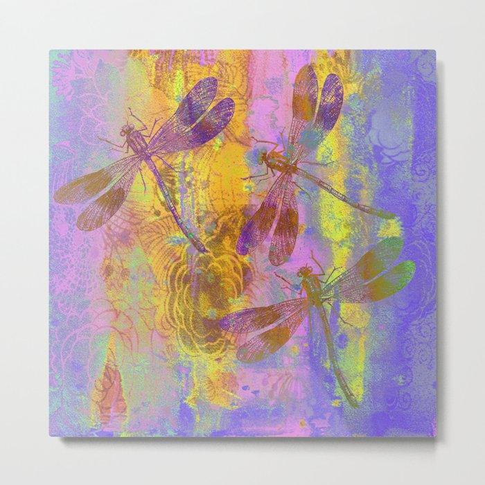 A Dragonflies QH Metal Print