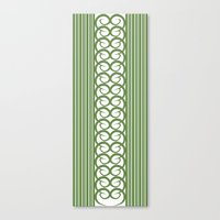 striped Canvas Prints featuring Striped by Panda