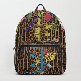 leopard garden vertical Backpack