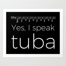 Tuba oompas (black) Art Print