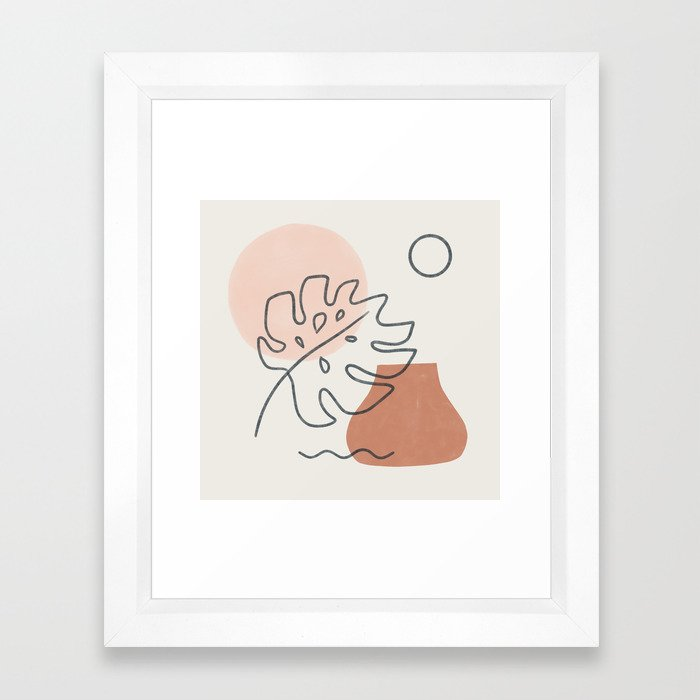 a warm feeling Framed Art Print