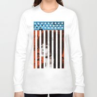 political Long Sleeve T-shirts featuring Angela Davis Political Prisoner by Robert John Paterson