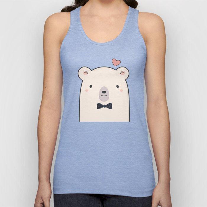Kawaii Cute Polar Bear Unisex Tank Top