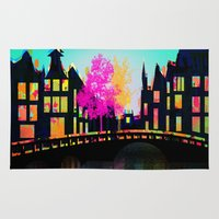 amsterdam Area & Throw Rugs featuring AMSTERDAM by mark ashkenazi