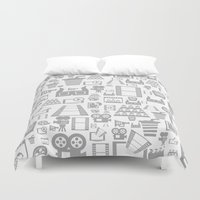 cinema Duvet Covers featuring Cinema a background by aleksander1