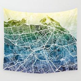 Edinburgh Scotland Street Map Wall Tapestry