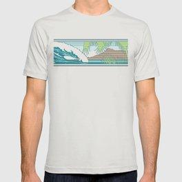 Ala Moana Diamond Head Hawaiian Surf Sign T-shirt