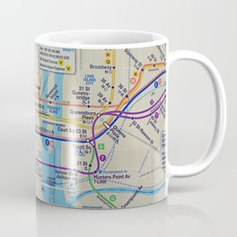 New York City, NYC Map, Subway, Travel Coffee Mug