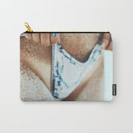 Nothing like that Sand and Tan Line Feeling; female beach color photograph - photographs - photography wall decor Carry-All Pouch