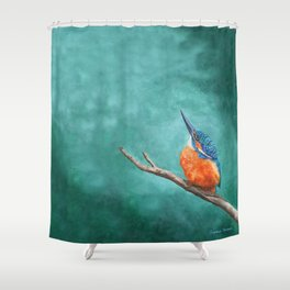 A Watchful Eye by Teresa Thompson Shower Curtain