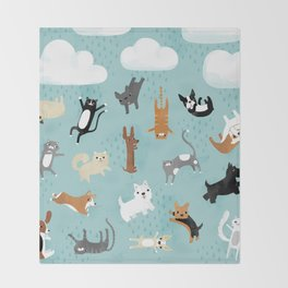 Raining Cats & Dogs Throw Blanket