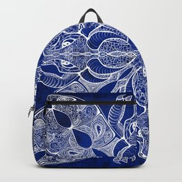 Blue Dragon Mandala Backpack