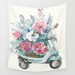 flower delivery Wall Tapestry