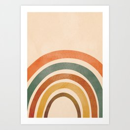 Retro Rainbow Art Print