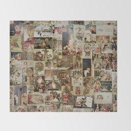 Merry Christmas- Santa angels & friends- collage Throw Blanket