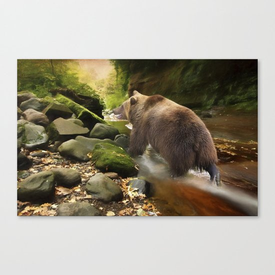 Grizzly Creek Canvas Print
