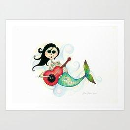 Sirenita Cucurumbe - Dia de los Muertos - Mermaid Art Print