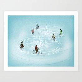 Ride On Ripples Art Print