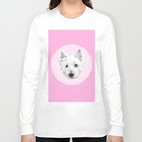 westie Long Sleeve T-shirts featuring Westie  by sarah illustration
