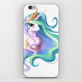 Beautiful unicorn drawing iPhone Skin
