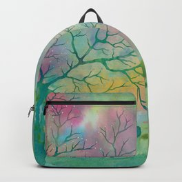 Colorful Spring Magic Tree painting Backpack