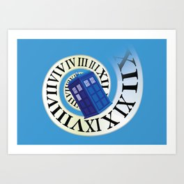 TARDIS in Time Art Print