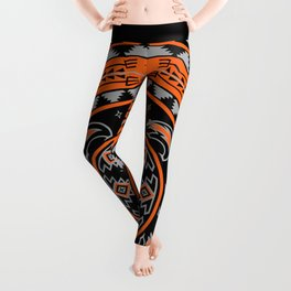 Bear Spirit (Orange) Leggings
