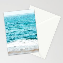 Teal Ocean Wave Photography Stationery Cards