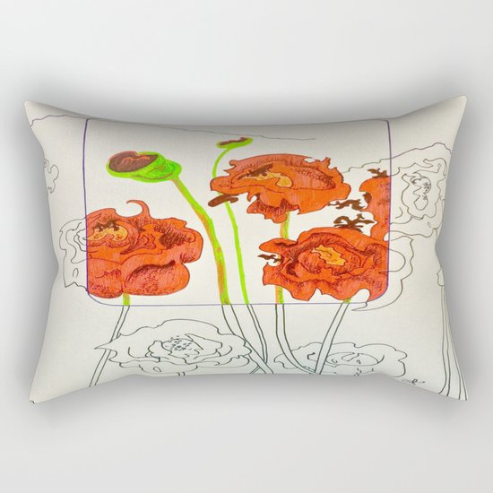 Perspective on Flowers Rectangular Pillow