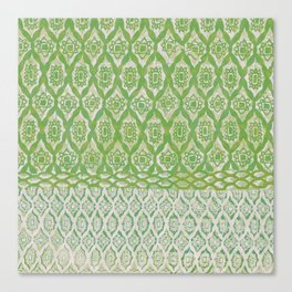 painterly diamonds in washed out lime Canvas Print