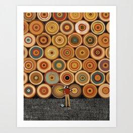 Timbers Vertical Art Print