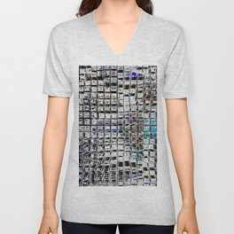 Looking Down at the City Lights Unisex V-Neck