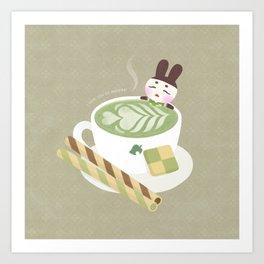 Matcha Latte Onsen Art Print