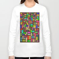 doors Long Sleeve T-shirts featuring Doors - Black by Finlay McNevin