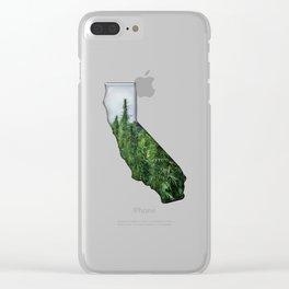 Green California Clear iPhone Case