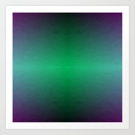 Green Blue and Purple Storm Horizon Art Print