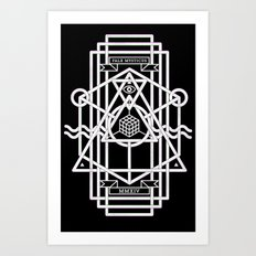 FALX MYSTICUS Black Art Print