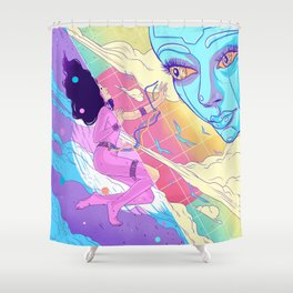A Tamed Tomorrow Shower Curtain