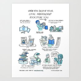 Support Your Independent Bookstore Art Print