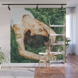 Jungle Vacay #painting #portrait Wall Mural
