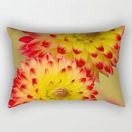 Dahlia Abstract Rectangular Pillow