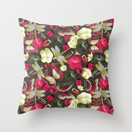 butterflies... dragonflies... and ladybugs! Throw Pillow