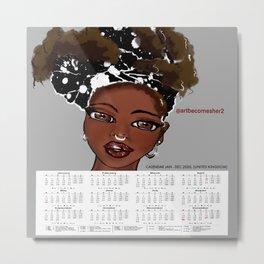 2020 Calendar/ Planner - Afrique Chique Metal Print