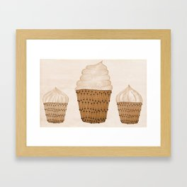 Coffee Cupcakes Framed Art Print