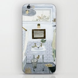 In The Bathroom iPhone Skin