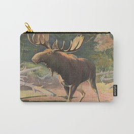 Vintage Moose Illustration (1902) Carry-All Pouch
