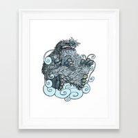 yeti Framed Art Prints featuring Yeti by David Comito