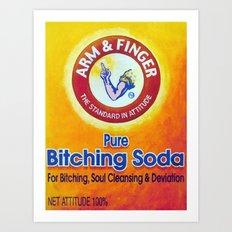 Arm & Finger Bitching Soda Art Print
