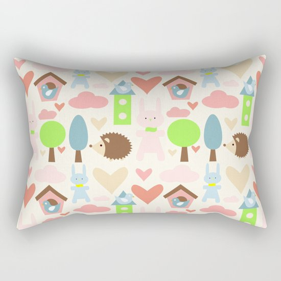 Bunny fun land Rectangular Pillow