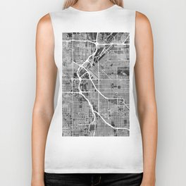 Denver Colorado Street Map Biker Tank